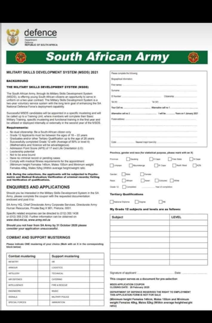 FB_IMG_1579286596819 Sa Army Application Forms on for bangladesh, ice sheet, south african, for acceptance, migration process, rotc printable, samples medical,